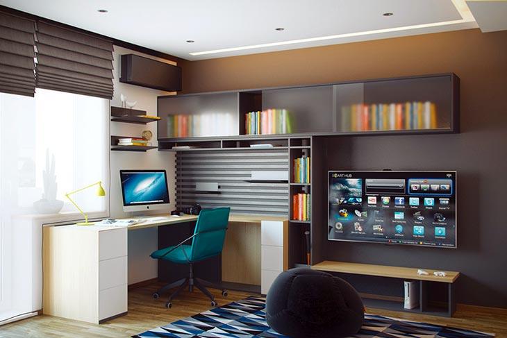 Интерьер молодежной комнаты