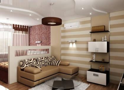 зал и спальня в одной комнате1.jpg
