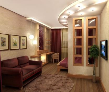 гостинная со спальней в одной комнате3.jpg