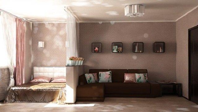 Идеи для спальни гостиной