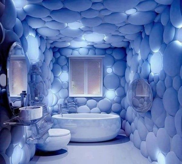 фото голубая комната