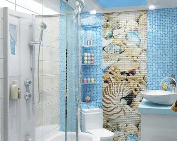 Дизайн ванны в морском стиле