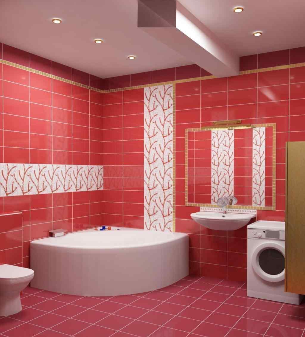 Ванная комната в бордовом цвете дизайн